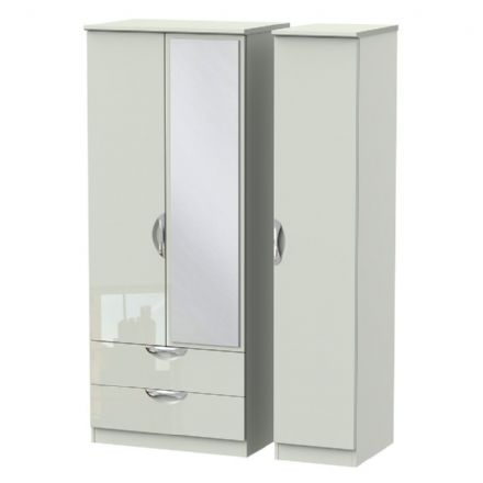 Camden Triple 2 Drawer Mirror Robe